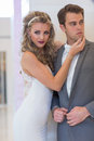 Marriage a series of wedding dresses and models Royalty Free Stock Photos