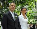 Married Couple In Garden