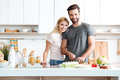 Married young couple enjoying their time at home Royalty Free Stock Photo