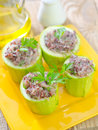 Marrow stuffed rice and meat Stock Images