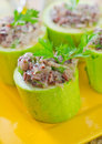 Marrow stuffed rice and meat Royalty Free Stock Photo