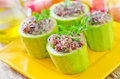 Marrow stuffed rice and meat Royalty Free Stock Photos