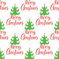 Marry christmas pattern red and green color Stock Images
