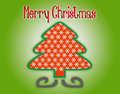 Marry christmas tree silhouette on a green background Stock Images