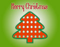Marry christmas tree silhouette on a green background Royalty Free Stock Images
