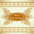 Marry christmas vintage greeting card Stock Photo