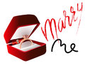 Marry me ring sign icon. Engagement symbol. Marry me lettering. EPS10 Royalty Free Stock Photo