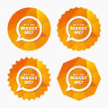 Marry me speech bubble sign icon. Engagement symbol. Royalty Free Stock Photo