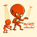 Mars attacks! Stock Image