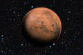 Mars planet beyond our solar system. Royalty Free Stock Photo