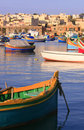 Marsaxlokk Fishing Village #1 Royalty Free Stock Photos