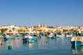Marsaxlokk old fishing town in malta Stock Images