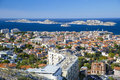 Marseille aerial view of marseilles and frioul islands france Royalty Free Stock Image
