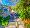 Marseille Colorful Stairway Royalty Free Stock Photo