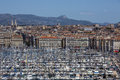 Marseille cote d azur south of france the vieux port area the city in the region the Royalty Free Stock Photo