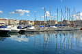 Marseille port view of vieux at Royalty Free Stock Images