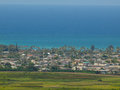 Marsh kailua town and ocean scape on the island of oahu hawaii Royalty Free Stock Photography