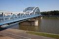 Marshal jozef pilsudski bridge in krakow poland over vistula river Stock Photography