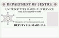 Marshal license regularly appointed and sworn in as Stock Photography