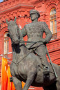 Marshal zhukov monument near red square in moscow russia Royalty Free Stock Photos