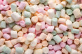 Marshmallow a pile of small colored puffy marshmallows Royalty Free Stock Image