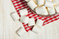 Marshmallow on a plate Royalty Free Stock Photo