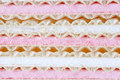 Marshmallow wafers Stock Photo