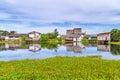 Marshy village scenery in Bang Muang