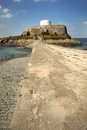 Martello tower at fort grey rocquaine bay guernsey channel islands Royalty Free Stock Photo
