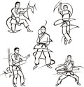 Martial art lessons Stock Photo