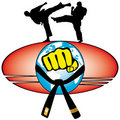 Martial art World Cup colored simbol. Vector. Royalty Free Stock Photo