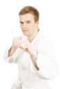 Martial arts and all things related art fighter isolated on white Royalty Free Stock Photo