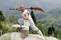 Martial arts....broadsword. Royalty Free Stock Photo