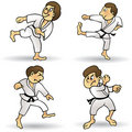 Martial Arts - Cartoon Royalty Free Stock Photo