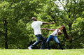Martial Arts excercise couple Royalty Free Stock Photo