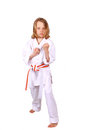 Martial arts kid cute practicing Stock Photography