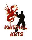 Martial Arts Logo Graphic isolated Royalty Free Stock Photo
