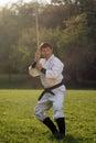 Martial arts outdoors