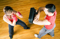 Martial Arts Sparring Royalty Free Stock Image