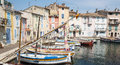 Martigues provence france bouches du rhone alpes cote d azur the old harbor with boats Royalty Free Stock Photography