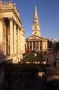 Martin-dans-le-Zones de rue et le National Gallery Photos libres de droits