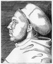 Martin luther from an engraving by cranach published in life of by julius kostlin Stock Images