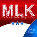 Martin luther king day dr jr th january of service Royalty Free Stock Photos