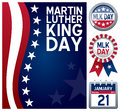 Martin Luther King Day Set Stock Photography
