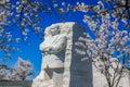 Martin luther king jr memorial och cherry blossoms i vår Royaltyfria Bilder