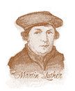 Martin Luther Watercolour Portrait Royalty Free Stock Photography