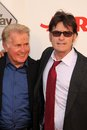 Martin sheen charlie sheen aarp movies grownups premiere way nokia theater los angeles ca Royalty Free Stock Images