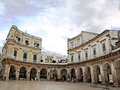 Martina franca piazza the circular in Stock Image