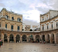 Martina franca piazza the circular in Royalty Free Stock Photos