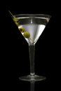 Martini on black Stock Photos